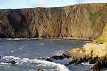 Intensely folded strata of sedimentary rock in cliffs at Hartland Quay, north Devon coast, England, UK