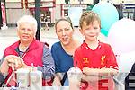 Marie Moriarty, Ann Davis and Gavin Davis enjoying Aine's Cafe in the Square 10th Birthday celebrations on Saturday