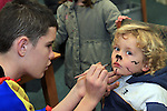Naoise McAvinia at the Facepainting in The Library...(Photo credit should read Jenny Matthews www.newsfile.ie)....This Picture has been sent you under the conditions enclosed by:.Newsfile Ltd..The Studio,.Millmount Abbey,.Drogheda,.Co Meath..Ireland..Tel: +353(0)41-9871240.Fax: +353(0)41-9871260.GSM: +353(0)86-2500958.email: pictures@newsfile.ie.www.newsfile.ie.