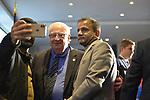 Garden City, New York, USA. November 6, 2018. Nassau County Democrats watch Election Day results at Garden City Hotel, Long Island. NYS Senator JOHN BROOKS won re-election to NYS Senate SD8.