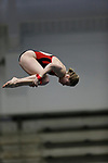 INDIANAPOLIS, IN - MARCH 18: Abigail Knapton of the University of Nebraska competes in the platform dive during the Division I Women's Swimming & Diving Championships held at the Indiana University Natatorium on March 18, 2017 in Indianapolis, Indiana. (Photo by A.J. Mast/NCAA Photos via Getty Images)