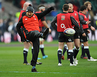 England Head Coach Eddie Jones during the warm up ahead of the NatWest 6 Nations match between England and Ireland at Twickenham Stadium on Saturday 17th March 2018 (Photo by Rob Munro/Stewart Communications)