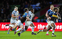 Semesa Rokoduguni of Bath Rugby goes on the attack. Aviva Premiership match, between Harlequins and Bath Rugby on November 27, 2016 at the Twickenham Stoop in London, England. Photo by: Patrick Khachfe / Onside Images