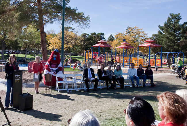 Photos from the grand opening of Inspiration Station, located at Dick Taylor Park in Reno.  The Junior League of Reno and the City of Reno celebrated the opening of the regions only universally accessible playground on Saturday afternoon, October 20, 2012.
