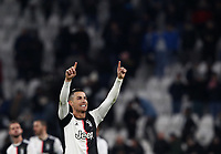 Calcio, Serie A: Juventus - Parma, Turin, Allianz Stadium, January 19, 2020.<br /> Juventus' Cristiano Ronaldo celebrates after 2-1 the Italian Serie A football match between Juventus and Parma at the Allianz stadium in Turin, January 19, 2020.<br /> UPDATE IMAGES PRESS/Isabella Bonotto