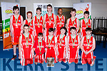 The Tralee Tigers team celebrate after winning the u14 Div 2 final at the KABB finals in Killarney on Saturday