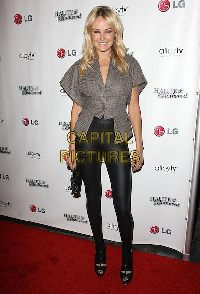 MALIN AKERMAN .Alloy TV brings you The launch of Haute and Bothered Season 2 held At The Thompson Hotel Rooftop, Beverly Hills, California, USA..May 10th, 2010.full length ackerman grey gray snakeskin print jacket top black  shoes spandex leggings clutch bag .CAP/ADM/KB.©Kevan Brooks/AdMedia/Capital Pictures.