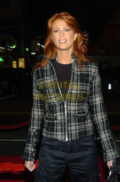 ANGIE EVERHART.Alexander World Premiere held at Grauman's Chinese Theatre..16 November 2004.half length, plaid tweed jacket.www.capitalpictures.com.sales@capitalpictures.com.© Capital Pictures.