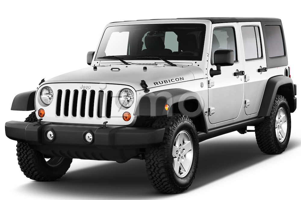 Front three quarter view of a 2012 Jeep Wrangler Unlimited Rubicon .