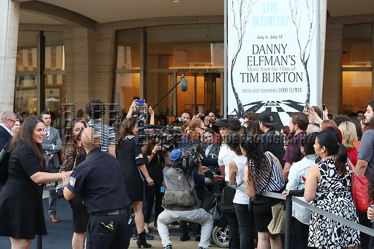 Danny Elfman with his fans attends the 'Danny Elfman's Music From The Films Of Tim Burton' - 2015 Lincoln Center Festival Opening Night at Josie Robertson Plaza at Lincoln Center on July 6, 2015 in New York City.