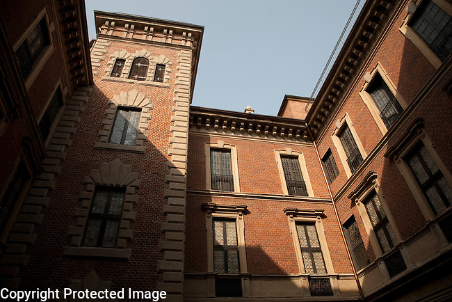 Main Facade of Milan Museum in Italy