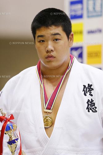 Yusei Ogawa, September 14, 2014 - Judo : All Japan Junior Judo Championships Men's +100kg victory ceremony at Saitama Prefectural Budokan, Saitama, Japan. (Photo by Yusuke Nakanishi/AFLO SPORT) [1090]