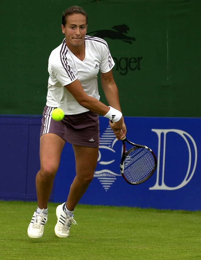 Photo: Richard Lane..DFS Classic Women's International Tennis at Edgebaston. 11/06/2003..Jane O'Donoghue.