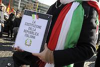 Roma, 11 Marzo 2011.Sciopero e corteo del sindacato autonomo Unione Sindacale di Base.La costituzione italiana