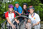 NATIONAL BIKE WEEK: Encouraging Family Fun Cycling and Cycling to work as part of National Bike Week at Ballyseedy Wood on Thursday l-r: Myriam Pope, Postman John Brosnan, Sa?idbh and Tommy Pope.