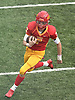 Anthony Pecorella #7, Chaminade quarterback, runs the ball on a keep during the third quarter of an NSCHSAA varsity football game against Kellenberg at Chaminade High School in Mineola on Sunday, Oct. 14, 2018. Kellenberg won by a score of 42-14.