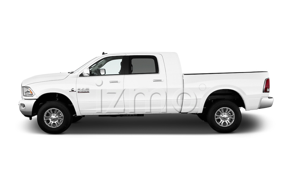 Car Driver side profile view of a 2017 Ram 2500 Laramie Mega Cab 4 Door Truck Side View