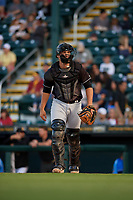 Jupiter Hammerheads catcher Nick Fortes (7) during a Florida State League game against the Bradenton Marauders on April 20, 2019 at LECOM Park in Bradenton, Florida.  Bradenton defeated Jupiter 3-2.  (Mike Janes/Four Seam Images)