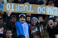 Fans in the terraces during the Rugby Championship match between the New Zealand All Blacks and Argentina Pumas at Trafalgar Park in Nelson, New Zealand on Saturday, 8 September 2018. Photo: Dave Lintott / lintottphoto.co.nz