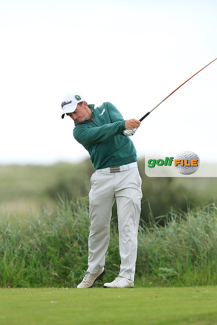 Paul Dunne (Greystones) on the 10th tee during Round 3 of the East of Ireland in the Co. Louth Golf Club at Baltray on Monday 2nd June 2014.<br /> Picture:  Thos Caffrey / www.golffile.ie
