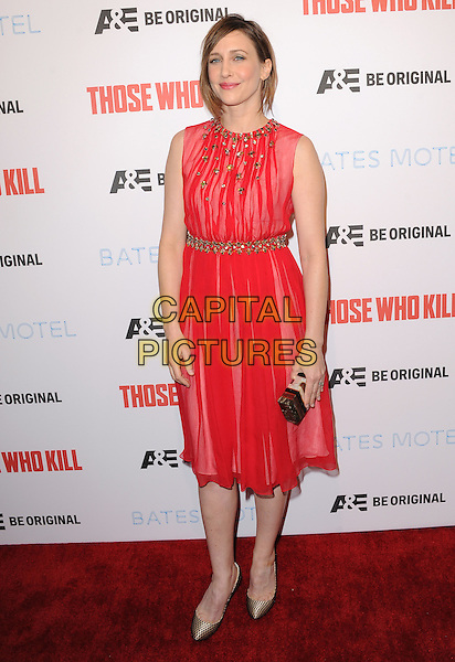 LOS ANGELES, CA - FEBRUARY 26 -Vera Farmiga attends The Premiere Party for A&amp;E's Those Who Kill and Season 2 of Bates Motel held at Warwick in Hollywood, California on February 26,2014                                                                              <br /> CAP/DVS<br /> &copy;DVS/Capital Pictures