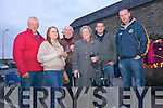 Parishioners Jim Mangan, Lisa Broderick, Tom Broderick, Mary Norris and Thomas and Brendan Broderick attend a special Dawn mass held in Duagh on Easter Sunday.