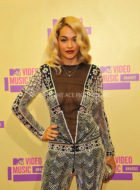 WWW.ACEPIXS.COM....September 6, 2012, Los Angeles, CA.......Rita Ora arriving at the 2012 MTV Video Awards at the Staples Center on September 6, 2012 in Los Angeles, California. ..........By Line: Peter West/ACE Pictures....ACE Pictures, Inc..Tel: 646 769 0430..Email: info@acepixs.com