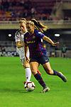 UEFA Women's Champions League 2018/2019.<br /> Quarter Finals.<br /> FC Barcelona vs LSK Kvinner FK: 3-0.<br /> Synne Skinnes Hansen vs Lieke Martens.