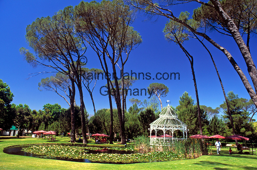 South Africa, near Cape Town, Winelands Franschhoek: Boschendal Manor House - park with pavilion