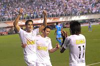 SANTOS, SP, 10 de MAIO DE- 2012_COPA SANTANDER LIBERTADORES- SANTOS X BOLIVAR -Paulo Ganso do Santos comemora gol durante partida. no estadio da Vila Belmiro  (FOTO: ADRIANO LIMA - BRAZIL PHOTO PRESS)