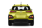 Straight rear view of a 2018 Hyundai Kona Twist 5 Door SUV stock images