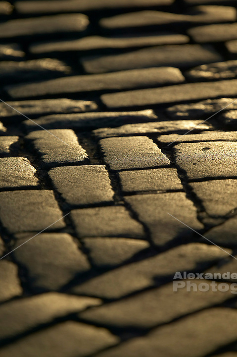 Newport, RI - Cobble Stone paving on Thames Street