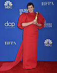 a_Olivia Coleman 132 poses in the press room with awards at the 77th Annual Golden Globe Awards at The Beverly Hilton Hotel on January 05, 2020 in Beverly Hills, California.