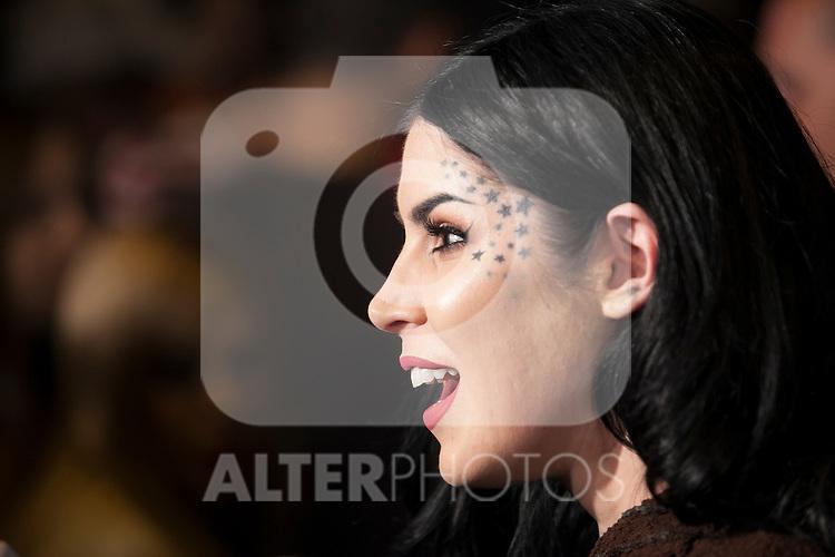 Kat Von D (Katherine Von Drachenberg) attends a make-up presentation in Madrid, Spain. October 07, 2015. (ALTERPHOTOS/Victor Blanco)