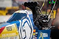 May 5, 2019; Commerce, GA, USA; NHRA top fuel driver Antron Brown during the Southern Nationals at Atlanta Dragway. Mandatory Credit: Mark J. Rebilas-USA TODAY Sports