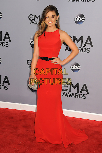 05 November 2013 - Nashville, Tennessee - Lucy Hale. 47th CMA Awards, Country Music's Biggest Night, held at Bridgestone Arena. <br /> CAP/ADM/BP<br /> &copy;BP/ADM/Capital Pictures