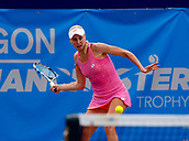 June 17th 2017, The Northern Lawn tennis Club, Manchester, England; ITF Womens tennis tournament; Number six seed Naomi Broady (GBR) in action during her semi final singles match against Zarina Dyas (KAZ); Dyas won in straight sets