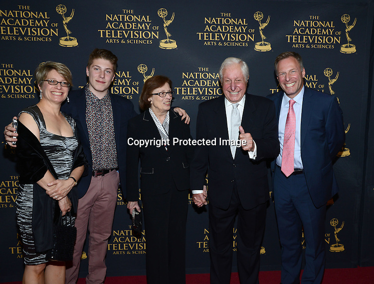 Michael Garguillo  and Michael Garguillo, Jr and family attends the Creative Arts Emmy Awards on April 24, 2015 at the Universal l Hilton in Universal City,<br /> California, USA.