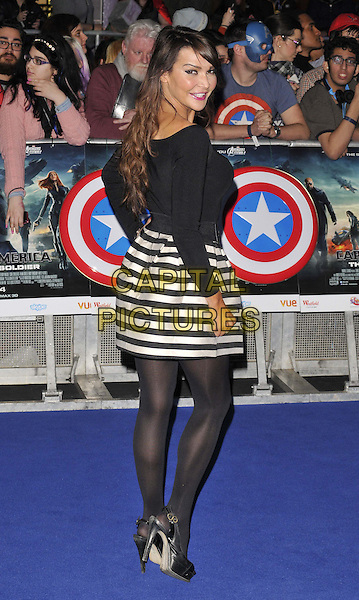 LONDON, ENGLAND - MARCH 20: Lizzie Cundy attends the &quot;Captain America: The Winter Soldier&quot; UK film premiere, Vue Westfield, Westfield Shopping Centre, Shepherd's Bush, on Thursday March 20, 2014 in London, England, UK.<br /> CAP/CAN<br /> &copy;Can Nguyen/Capital Pictures