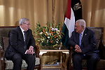 Palestinian President Mahmoud Abbas meets with the Speaker of the Algerian National Assembly, Tunis, Tunisia, on March 30, 2019. Photo by Thaer Ganaim