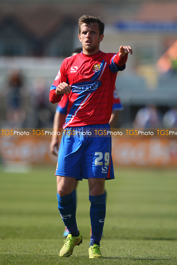Frankie Raymond of Dagenham and Redbridge - Newport County AFC Dagenham and Redbridge - Sky Bet League Two action at the Rodney Parade Stadium on 18/04/15 - MANDATORY CREDIT: Dave Simpson/TGSPHOTO - Self billing applies where appropriate - 0845 094 6026 - contact@tgsphoto.co.uk - NO UNPAID USE