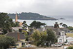 View of Mendocino Bay and village