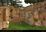 Flavian Nymphaeum Ruins North of Stadium of Domitian Palatine Hill Rome
