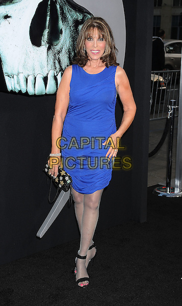 "Kate Linder.arriving at the Los Angeles Premiere of ""Final Destination 5"" at Grauman's Chinese Theatre in Hollywood, California, USA, August 10th, 2011..full length blue dress sleeveless .CAP/ROT/TM.©TM/Roth Stock/Capital Pictures"