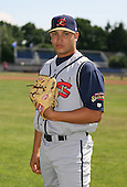 2007:  Jorge Charry of the State College Spikes poses for a photo prior to a game vs. the Batavia Muckdogs in New York-Penn League baseball action.  Photo copyright Mike Janes Photography 2007.