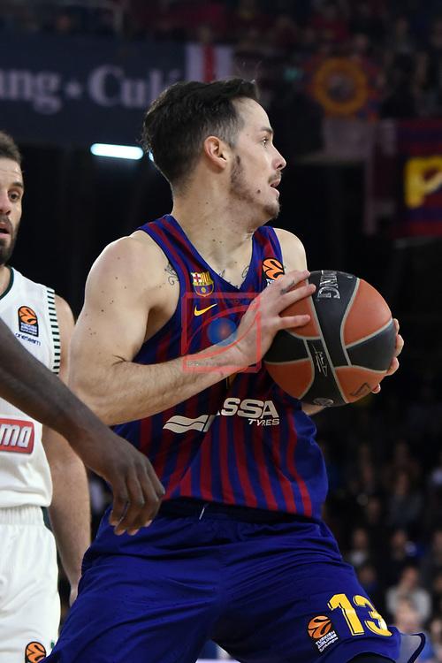 Turkish Airlines Euroleague 2018/2019. <br /> Regular Season-Round 18.<br /> FC Barcelona Lassa vs Panathinaikos Opap Athens: 79-68.<br /> Thomas Heurtel.