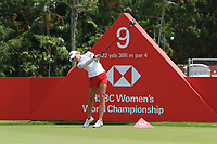 Nelly Korda (USA) in action on the 9th during Round 3 of the HSBC Womens Champions 2018 at Sentosa Golf Club on the Saturday 3rd March 2018.<br /> Picture:  Thos Caffrey / www.golffile.ie<br /> <br /> All photo usage must carry mandatory copyright credit (&copy; Golffile | Thos Caffrey)