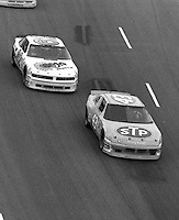 Richard Petty (43) Joe Ruttmann (62) Heinz Southern 500 at Darlington Raceway in Darlington, SC on September 3, 1989. (Photo by Brian Cleary/www.bcpix.com)