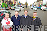 Castleisland business men l-r: Diarmuid Reidy, Mike Kennelly, Bill Costello and Tom McCarthy who are delighted with the free flowing traffic in the town on Wednesday since the opening of the new by-pass