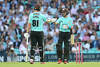 Ollie Pope and Rikki Clarke enjoy a useful partnership for Surrey during Surrey vs Essex Eagles, Vitality Blast T20 Cricket at the Kia Oval on 12th July 2018